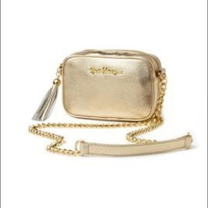 Lilly Pulitzer gold purse
